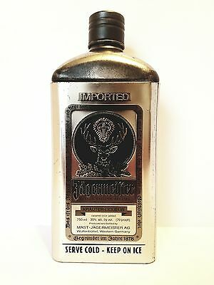 Limited Edition Jagermeister Metal (Tin) Bottle Cover Silver & Black NO DENTS