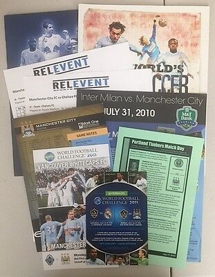 Man City Various Usa/canada Tour Items Package