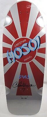 Sims Skateboards Hosoi Rising Sun Re-Issue Signed Deck Silver Limited Edition
