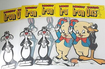 Vintage Lot 5 Looney Tunes Iron Ons Patch Warner Bros