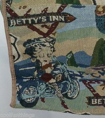RARE! BETTY BOOP Motorcycle Betty's Inn ROUTE 66 Rte Tapestry Tote Bag Purse NEW