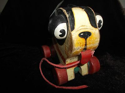 "VINTAGE 1950's FISHER-PRICE NO. 462 ""BARKY"" PULL TOY"
