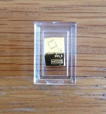 Valcambi 999.9 Fine Gold Bullion-Gold Bar With Free Case
