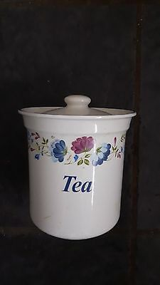 British Home Stores BHS Priory Tea Canister
