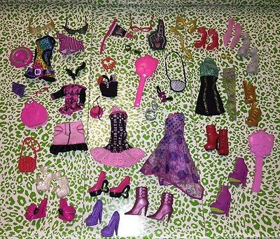 Monster High Lot Of 10 Pairs Shoes + Clothing Accessories NEVER USED!