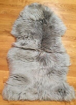 NEW Pottery Barn Teen Supersoft Shearling 2x3' Rug LIGHT GRAY