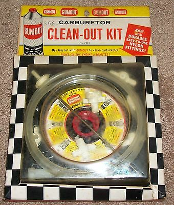 VINTAGE OLD STOCK 60s GUMOUT CARBURETOR CLEAN-OUT-KIT STILL SEALED PACKAGE COOL