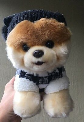 GUND BOO Plush THE WORLD'S CUTEST DOG Fluffy Pomeranian in Bear Suit 4058093