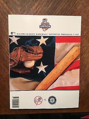 2001 MLB ALCS Official Program New York Yankees vs. Seattle Mariners