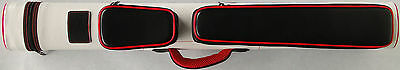 2x2 Pool Cue Case Red & White with FREE Shipping