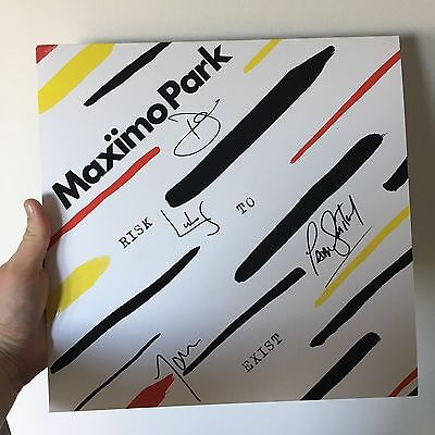 "Maximo Park Signed ""Risk To Exist"" Vinyl Album - Limited Clear Vinyl"