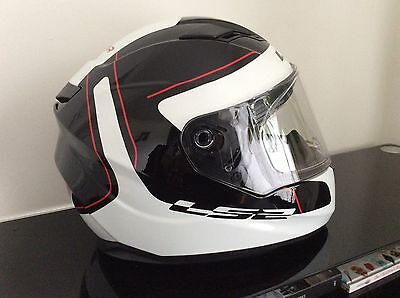 LS2 FF320 Black/White XXL Full Face Helmet