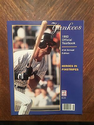 1990 Official New York Yankees Yearbook 41st Annual Edition Heroes in Pinstripes