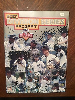 2001 American League Division Series Program New York Yankees
