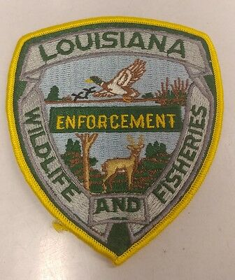 Louisiana Wildlife & Fisheries Enforcement Patch Warden Game Police Conservation