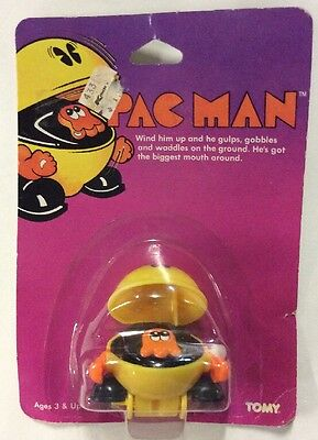 Vintage TOMY Pac Man Wind Up Toy 1982 NEW MOC