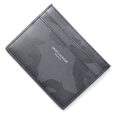SAINT LAURENT PARIS Card Case Black 375946-dxn0u-1053 Men's【2017S/S】