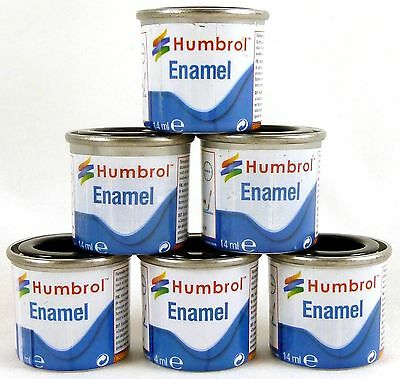 Humbrol 14ml Enamel Metallic Paint Model Making, Airfix, Hornby
