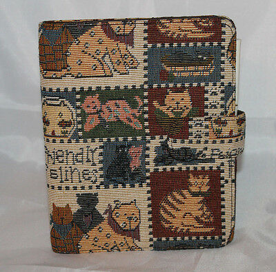 Friendly Felines Cats Tapestry Notepad Vintage Unused