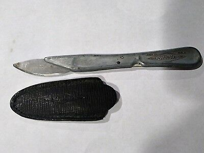 Vintage unusual Gillette Exacto-type straight razor ? Fleem bleeder