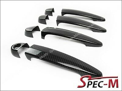 E71 NEW REAL DRY CARBON FIBER DOOR HANDLE COVERS FOR 2008-2013 BMW X6M