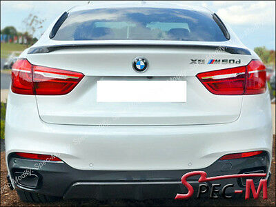 Fits 15-18 BMW F16 X6 F86 X6M Performance ABS Trunk Spoiler OEM Painted Color