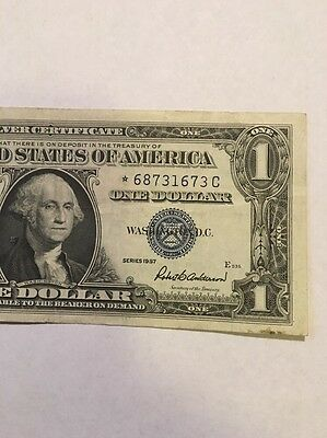 1957 Silver Certificate Star Note High Serial#