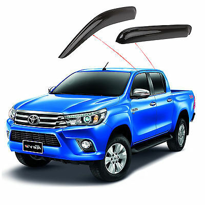 for Toyota Hilux Weathershields Window Visors Dual Cab 2000-2005 Shields 4 Doors