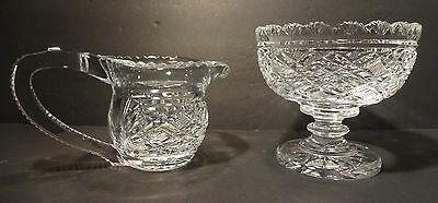 *VINTAGE* Waterford Crystal PERIOD PIECE Master Cutter Cream Jug and Sugar Bowl