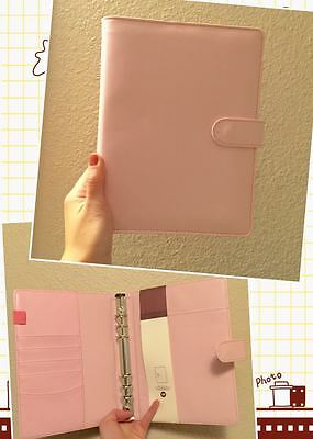 light pink planner organizer A5 large desk size PU leather NEW 6ring