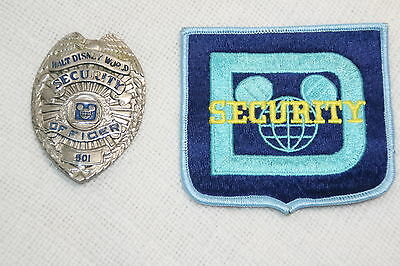 Vintage obsolete Walt Disney World Resort  Security Badge and  uniform patch