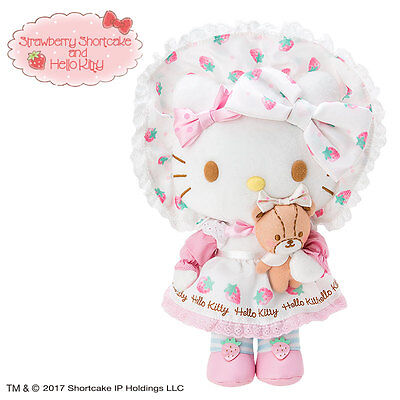 Hello kitty x Strawberry Shortcake Plush Kitty F/S Worldwide SANRIO from JAPAN