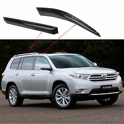 Toyota Kluger Weathershields 2007-2013 Window Visors Wind Shields Free Delivery