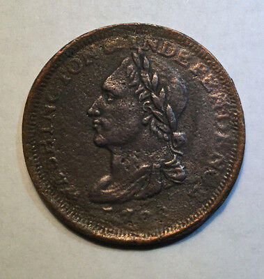 1783 Unity States Copper One Cent Colonial Washington & Independence Cent-Sharp