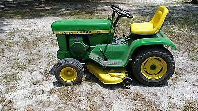john deere 112 lawn tractor mower with deck in florida