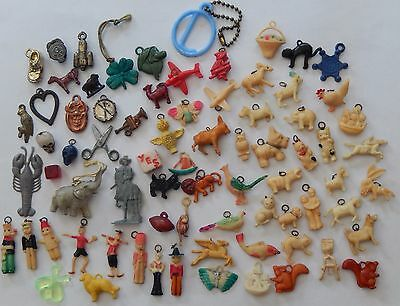 Lot 75 Vintage Celluloid GLASS METAL CRACKER Jack Gumball PRIZE Charms