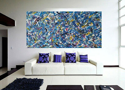Abstract  LARGE Hand Painted  Modern ACRYLIC PAINTING on CANVAS by M.Y.