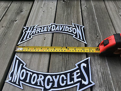 Large-Biker-Patches-Set-New-and-Free-shipping-Black and White