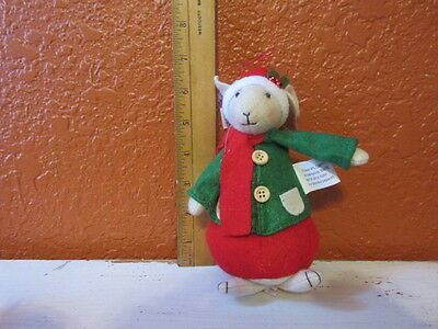 New Holiday felt Male Christmas Mouse stuffed figure ornament or decoration #1