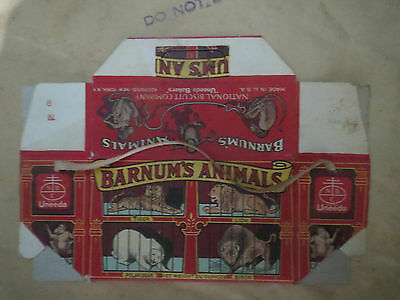 very old Barnum's Animals National Biscuit Co. box advertising