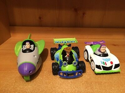 Fisher Price Disney Toy Story Shake N Go Lot Of Buzz Lightyear And Woody & R/C