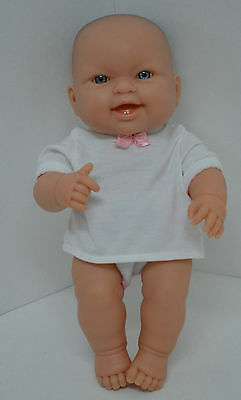 Berenguer Baby Doll Blue Eyes Reborn 13in Smiling Teeth Diaper Shirt