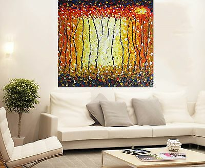 original Art  large canvas by jane crawford Bush Fire Dream Australia