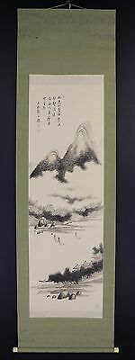 JAPANESE HANGING SCROLL ART Painting Scenery Asian antique  #E5877