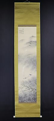 JAPANESE HANGING SCROLL ART Painting Scenery Asian antique  #E5880