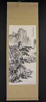 CHINESE HANGING SCROLL ART Painting Sansui Landscape Asian antique  #E5857
