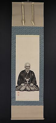 JAPANESE HANGING SCROLL ART Painting  Asian antique  #E5888