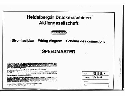 Heidelberg Speed Master 72-102 2.3+L 1987 wiring diagram (119)
