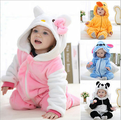 Soft Baby Toddlers Outerwear Unisex Cosplay Animal Costume romper