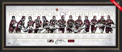 Johnathan Thurston QLD State Of Origin Progression of Perfection Signed & Framed